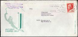 Yugoslavia Croatia Zagreb 1971 / Airplanes / Pan Adria Machine Stamp / Highway Zagreb Split - Architettura