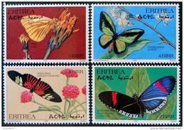 PAPILLONS 1997 - NEUFS ** - YT 325/28 - MI 118/21 - Eritrea
