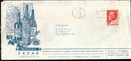 Yugoslavia Croatia Zadar 1969 / Maraska / Liquers, Cherry Wines, Fruit Juices / Boris Kidric Textile Machine Stamp - Wijn & Sterke Drank