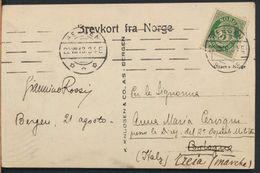 °°° 6471- NORWAY - STALHEIMSFOSSEN - 1913 With Stamps °°° - Norvegia