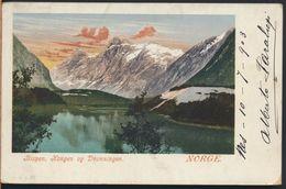 °°° 6472- NORWAY - BISPEN , KONGEN OG DRONNINGEN - 1903 With Stamps °°° - Norwegen