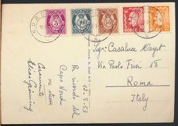 °°° 6473- NORWAY - TO VENNER FRA VIDDA - 1953 With Stamps °°° - Norvegia