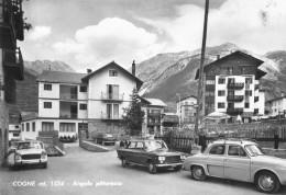 """07037 """"COGNE (AO) -  ANGOLO PITTORESCO"""" ANIMATA AUTO ANNI '50 / '60. CART. ILL. ORIG.  NON SPED. - Italia"""