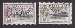 Sierra Leone, Scott #195-196, Used, Queen Elizabeth II, Issued 1956 - Sierra Leone (...-1960)