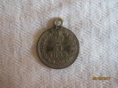 5 Kreuzer 1859 - Silver With A Jewellery Loop / Monté En Pendentif. - Autriche
