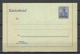Deutschland DANZIG Ca 1920 Kartenbrief Ungebraucht/sauber - Danzig