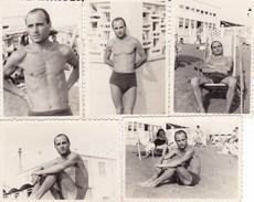 OSTIA - ROMA - LOTTO DI 5  FOTO DEL 1947 CON DIDASCALIA - Lieux