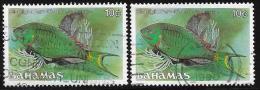 Bahamas, Scott # 605c(1987),605d(1988) Used Fish 1987 - Bahamas (1973-...)