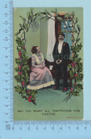 Couple CPA  -  May You Resist All Temptations This Yuletide - 2 Scans - Couples
