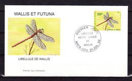 """WALLIS ET FUTUNA 1998 : Enveloppe 1er Jour : """" LA LIBELLULE / MATA - UTU Le 21-07-1998 """" N° YT 522. Parf état. FDC - Insectes"""