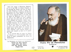 Image Pieuse Religieuse Holy Card Santini Illustration Priere Glorification PADRE PIO De Pietrelcina ( RELIQUE ) - Imágenes Religiosas