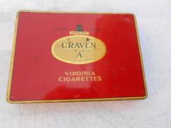 Boîte Ancienne Craven A - Virginia Cigarettes - - Scatole