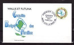 """Enveloppe 1er Jour De 2005 : """" ENQUETE SUR LE BUDGET DES FAMILLES / LOGO ET CARTE DE WALLIS  """". N° YT 634. Parf état FDC - FDC"""