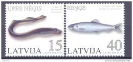 2005. Latvia, Fishes, 2v,  Mint/** - Letland