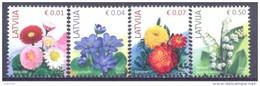 2014. Latvia, Flowers,  4v, Mint/** - Letland