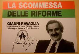 CARTOLINA POSTCARD 1987 NUOVA POLITICA CULTURALE PARTITO REPUBBLICANO RAVENNA - Personaggi