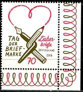 BRD - Michel 3259 ECKE REU - ** Postfrisch (O) - Ausgabe 01.09.2016 - 70C  Tag Der Briefmarke 16 - Timbres