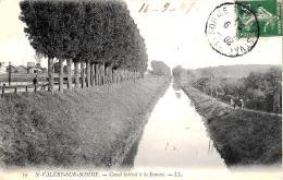 [DC10649] CPA - FRANCIA - SAINT VALERY SUR SOMME - CANAL LATERAL A LA SOMME - Viaggiata 1907 - Old Postcard - Saint Valery Sur Somme