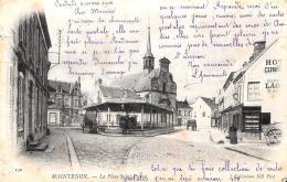 [DC10652] CPA - FRANCIA - MAINTENON - LA PLACE SAINT PIERRE - Viaggiata 1904 - Old Postcard - Maintenon