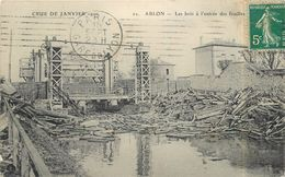 ABLON - Les Bois à L'entrée Des Fouilles, Crue De Janvier 1910. - Ablon Sur Seine