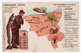 Carte Géographique, Emulsion Scott, Département Algérie Alger - Algérie