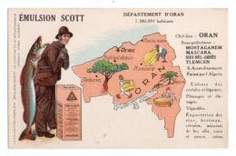 Carte Géographique, Emulsion Scott, Département Algérie Oran - Algérie