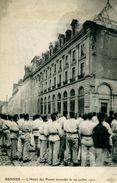 N°55176 -cpa Rennes -hôtel Des Postes Incendié Le 19 Juillet 1911- - Poste & Facteurs