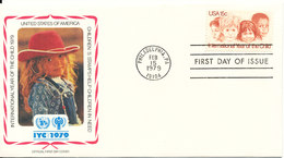 USA FDC 15-2-1979 International Year Of The Child With Cachet - Premiers Jours (FDC)