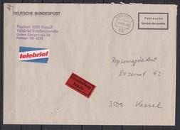 Bund Postsache Als Telebrief Mit Eilzustellung Ortspost Kassel/3.9.85 - [7] République Fédérale