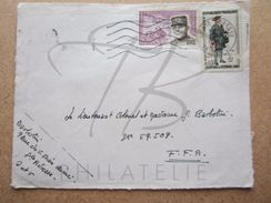 "VEND TIMBRES DE FRANCE N° 1270 + 1285 , CACHET "" SAINTE-ADRESSE "" , SUR FACADE !!! - Briefe U. Dokumente"