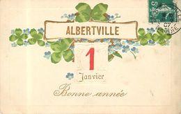 ALBERTVILLE - Bonne Année,.carte Fantaisie. - Albertville