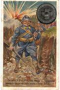 CPA N°8502 - LE TALON LE GAULOIS RESISTE A L' ECRASEMENT COMME LE CASQUE DU POILU RESISTE A L' ECLAT D' OBUS - ABIMEE - Oorlog 1914-18