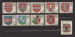 Czechoslovakia Tschechoslowakei 1968 Gest. Mi 1819-1828 Sc 1569-1578 Arms Of Towns 1968.  C.6 - Czechoslovakia