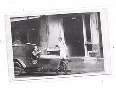 Carte Photo à Identifier : Devanture Poissonnerie  à Coté Du N° 19, Voiture Ancienne De Livraison, - Cartes Postales