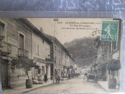 Le Pont De Labeaume ; La Rue Principale Et Le Bureau De Poste - France