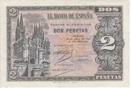BILLETE DE BURGOS DE 2 PTAS DEL AÑO 1938 SERIE L EN CALIDAD EBC (XF)  (BANKNOTE) - [ 3] 1936-1975 : Régence De Franco