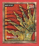 ITALIA REPUBBLICA USATO - 2013 - Arte Orafa - Ostensorio - € 0,70 - S. 3397 - 1946-.. Republiek