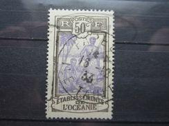 """VEND BEAU TIMBRE DES ETABLISSEMENTS FRANCAIS DANS L'OCEANIE N° 55 , OBLITERATION """" PAPEETE """" !!! - Oceanía (1892-1958)"""