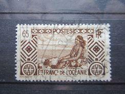 """VEND BEAU TIMBRE DES ETABLISSEMENTS FRANCAIS DANS L'OCEANIE N° 102 , OBLITERATION """" PAPEETE """" !!! - Oceanía (1892-1958)"""