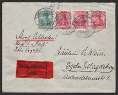 """85/6 I,  MiF Auf Eilboten, """"Hindenburg/ Sachsen, 13.12.1912 - Deutschland"""