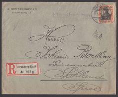 "89 I, EF Auf R- Brief ""Straßburg/ Els"", 17.05.1908 - Briefe U. Dokumente"