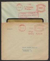 """""""Breslau"""", 2 Firmenumschläge, 1931, 1933, """"Heimann"""" Und """"Arndt"""" - Briefe U. Dokumente"""