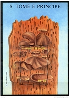 Sao Tome E Principe, 1988, Mushrooms, Flora, Nature, MNH, Michel Block 178 - Sao Tome Et Principe