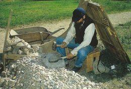 "Jens ""Stonebreaker"" Breakes Stones.  The Funen Village Denmark.   # 07108 - Museum"