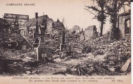 80 ASSEVILLERS --  Les Boches Ont Enterré Leurs Morts Dans Notre Cimetière -- Campagne 1914 - 1917 - Autres Communes