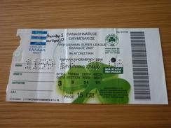 Panathinaikos-Olympiakos Football Greek Championship Match Ticket (05/11/2006) Hologram - Tickets D'entrée