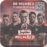 België - Jupiler - GO # All In RED - Belgisch Nationale Voetbaleftal - Ongebruikt - Bierviltjes