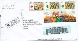 Singapore 2017 Air Mail Cover  CN 22 Customs Declaration - Singapore (1959-...)