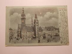 Carte Postale - ALLEMAGNE - Hauptmarkt - La Nuit - By Night (1828) - Chemnitz