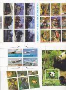 27 BLOCS NEUFS DIFFERENTS  MNH**  REPUBLIQUES INTERIEURES RUSSIE  ANIMAUX, TRAINS, AVIONS... - Stamps